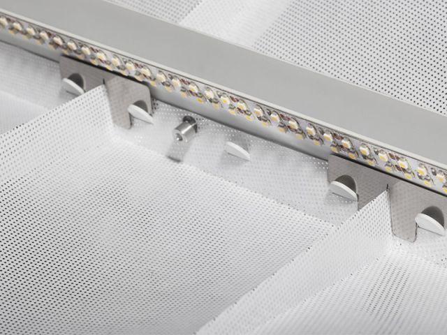 Détail barre centrale - Une plume de lumière à géométrie variable