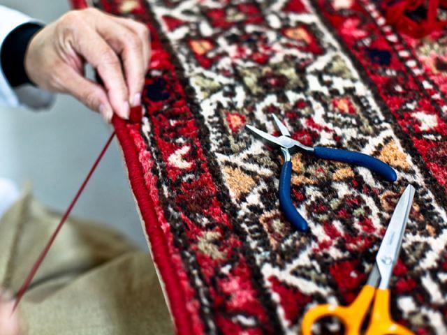 Les extrémités du tapis - Chevalier Conservation