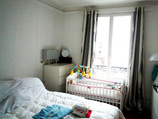 Chambre - Avant - Avant/après gris et rouge