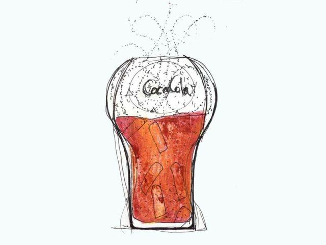Croquis 2Verre design Coca-Cola Thomas Meyerhoffer