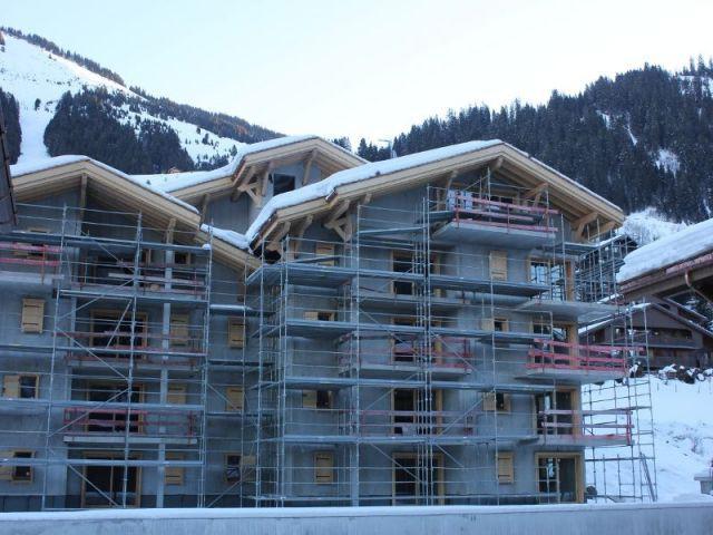 Le bâtiment G en construction  - Chalet mgm à Chatel