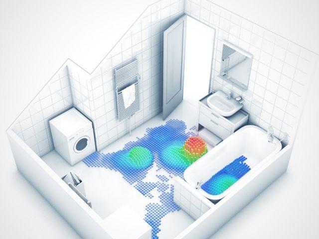 La salle de bains d'une famille française avec deux enfants - Etude SdB