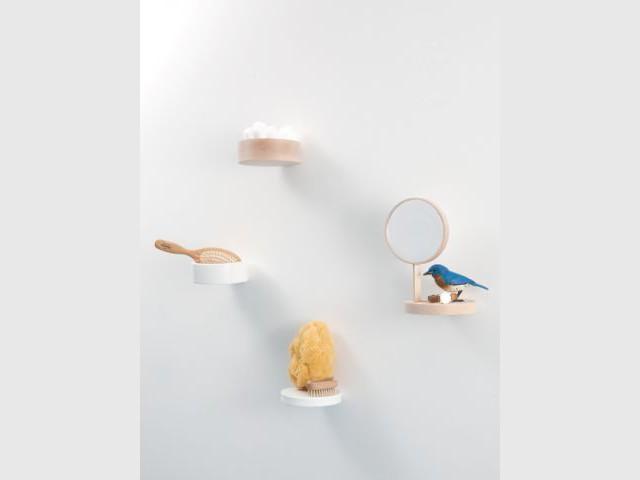 Des rangements malins pour la salle de bains - Vide poche mural salle de bain ...