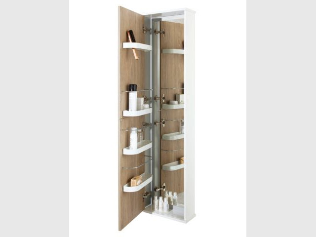 Des rangements malins pour la salle de bains for Colonne de salle de bain sanijura