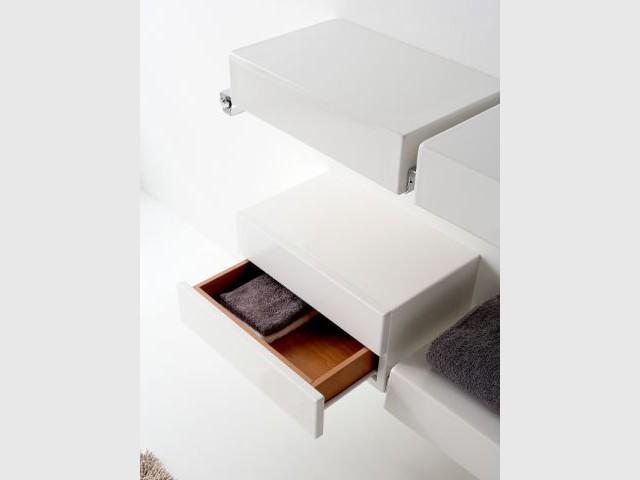 Des rangements malins pour la salle de bains for Mini etagere salle de bain