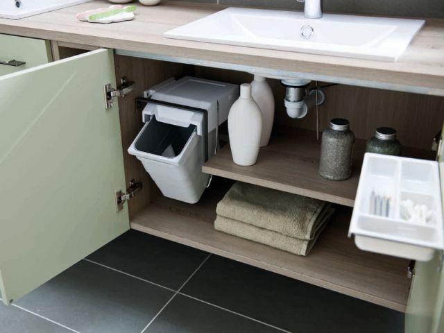 Des rangements malins pour la salle de bains - Amenagement placard salle de bain ...