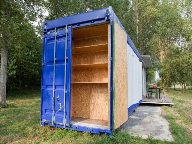 1 container recycl et revisit en loft design for Container modulable