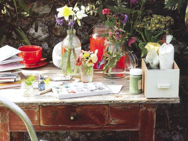 Country Living - jardin vintage