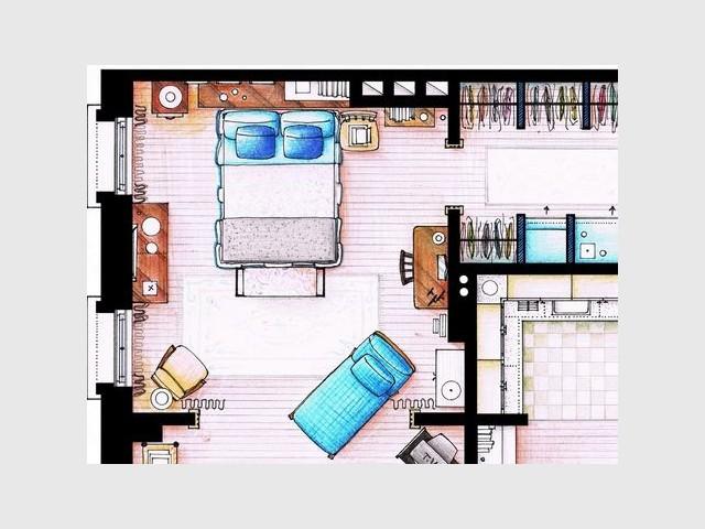 Observez la loupe les maisons de vos s ries t l for Planimetria camera da letto