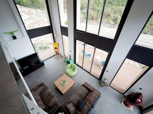 Maison acier - Vue de la mezzanine - Maison acier Nice
