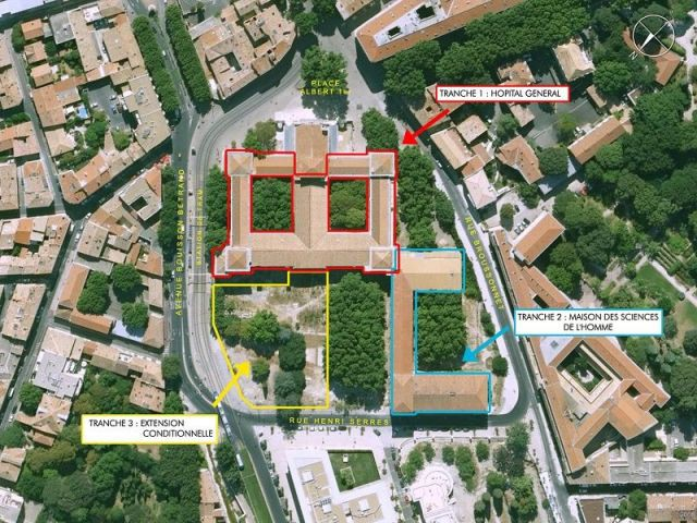 Plan masse - Campus Saint-Charles