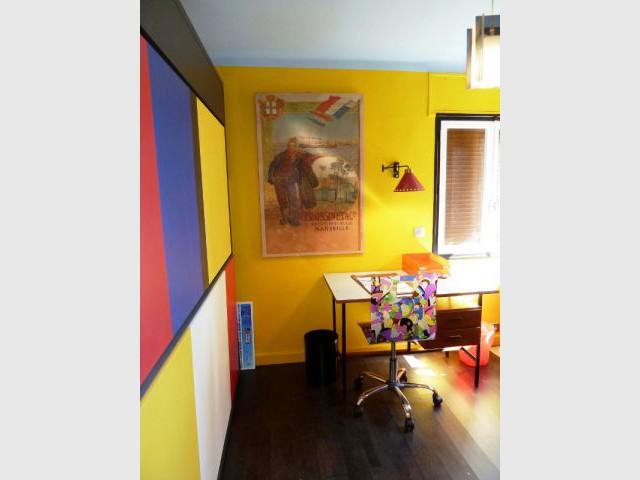Chambre d'amis - Des lits cachés - Appart fifties coloré