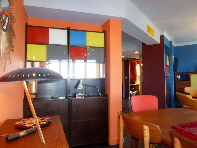 Salle à manger - Un buffet fifties - Appart fifties coloré