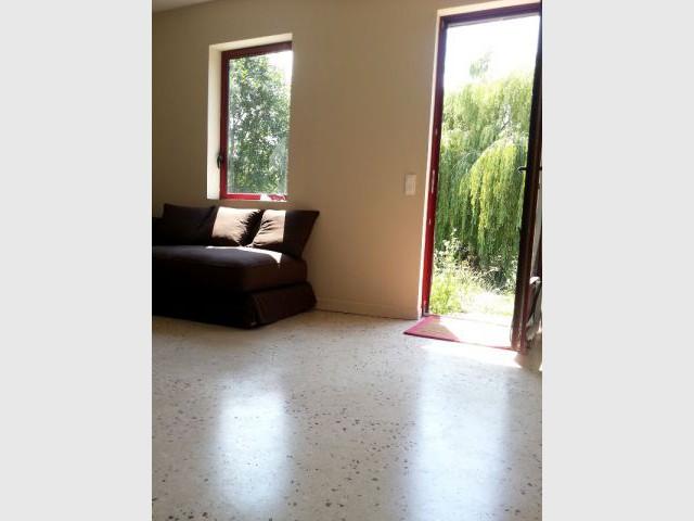 Un sol en béton poli pour le rez-de-chaussée - Concours Lafarge Artevia