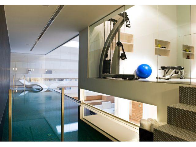 Une salle de sport au milieu d'un loft - Loft Madrid