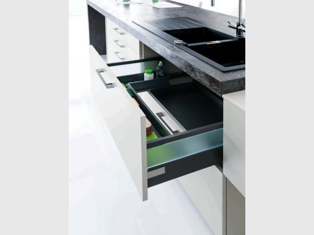 Des tiroirs conçus pour facilier le tri - GreenKitchen