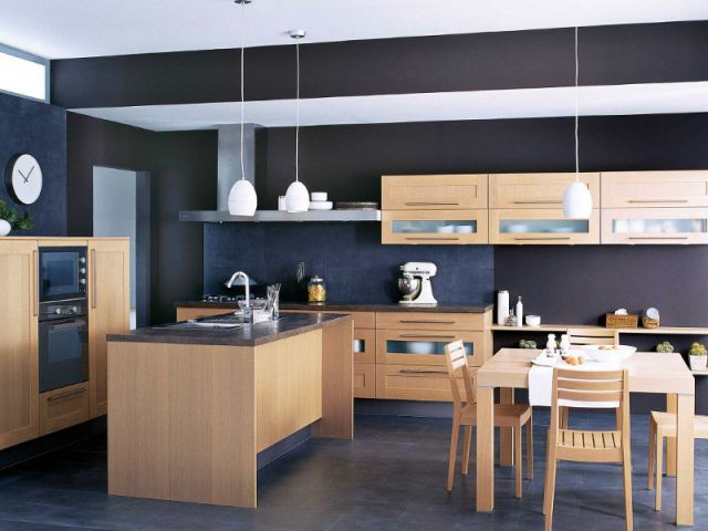 15 cuisines bois au top de la tendance 2013. Black Bedroom Furniture Sets. Home Design Ideas