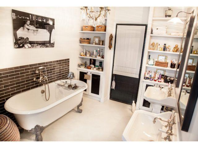 Charme et rétro dans la salle de bains - Reportage appart vintage