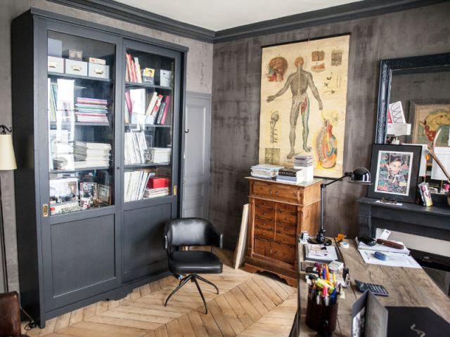 Cabinet de curiosités ou bibliothèque ? - Reportage appart vintage