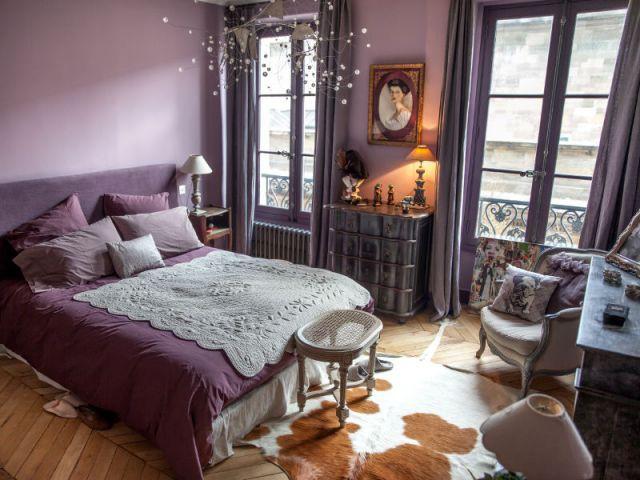 Une chambre aux couleurs romantiques - Reportage appart vintage