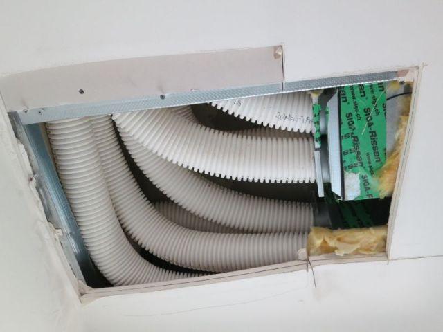 Conduit aération VMC - logements passifs Gonesse