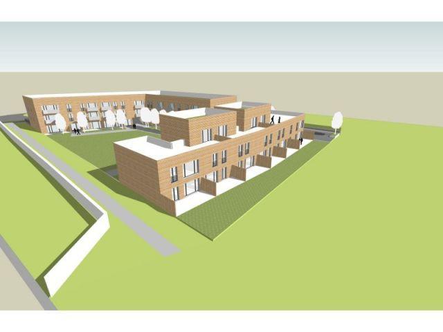 Façade vue 3D - logements passifs Gonesse