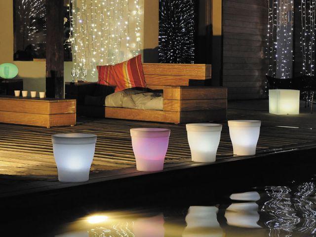 Pots de couleur rétroéclairés - Blachère