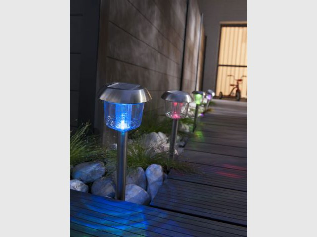 Lot de 6 bornes LED - Castorama