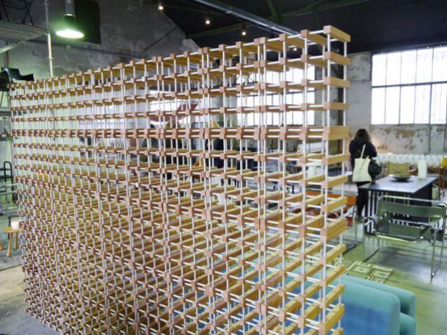 Show-room Habitat 1964 - casier à bouteilles