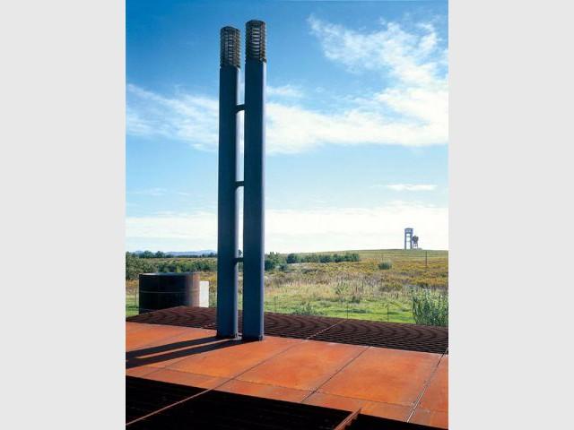 Une cheminée contemporaine - podere