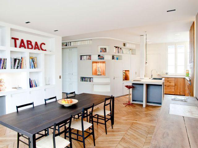 Espace à vivre - Appartement rénovation 7ème arrondissement / Agence Demont Reynaud /PPil