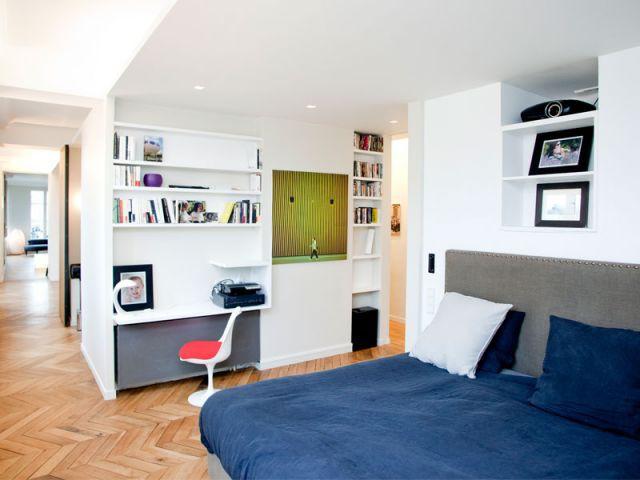 Chambre parentale - Appartement rénovation 7ème arrondissement / Agence Demont Reynaud /PPil