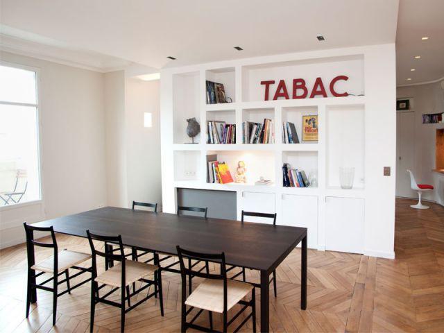 Salle à manger - Appartement rénovation 7ème arrondissement / Agence Demont Reynaud /PPil