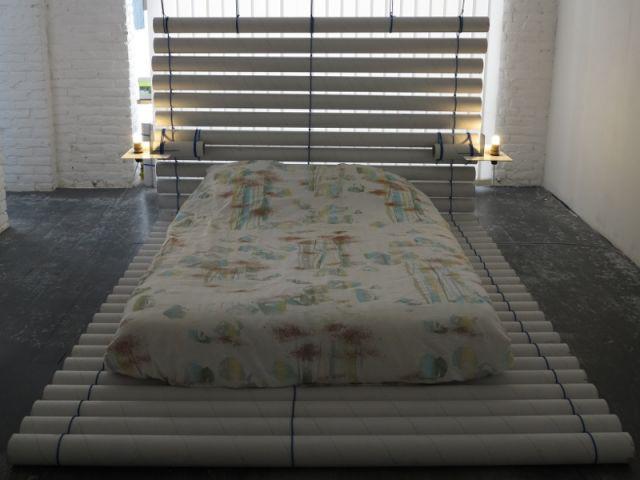 Le lit du campement éphémère - Bout de camp