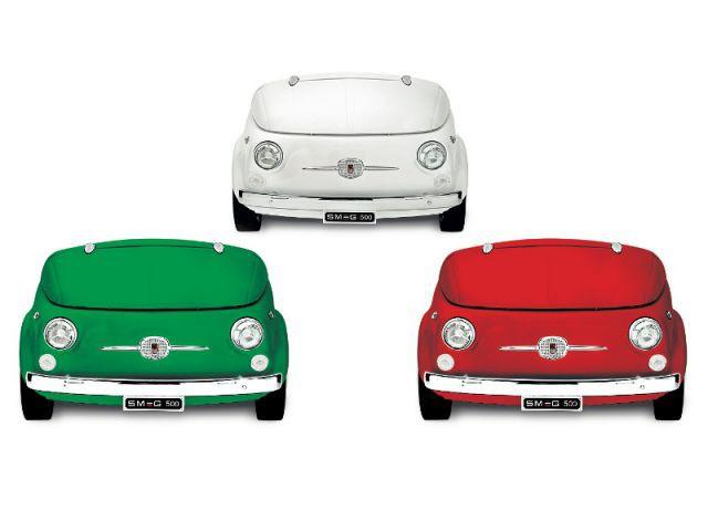 Vert, blanc, rouge en hommage à l'Italie - Smeg Fiat 500