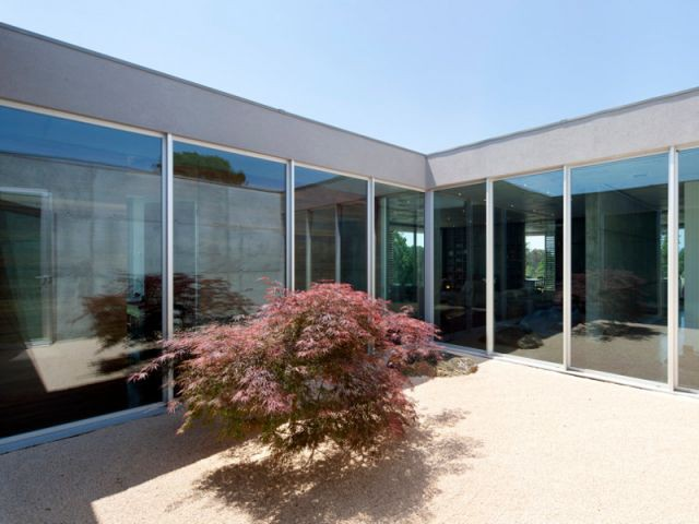 Un patio au coeur de la maison - La Villa Géraldine