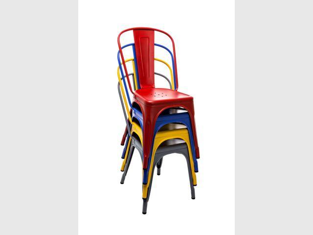 Les diférentes chaises A  - Chaises Le Corbusier - couleurs Tolix
