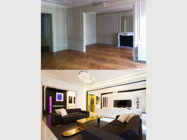 Le salon - une pièce de réception aux allures de galerie d'art  - Denise Omer - 16ème arrondissement rénovation