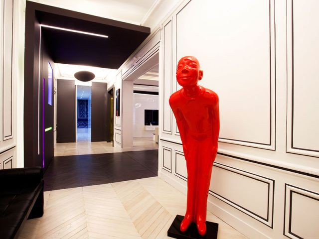 L'entrée - un avant-goût surprenant - Denise Omer - 16ème arrondissement rénovation