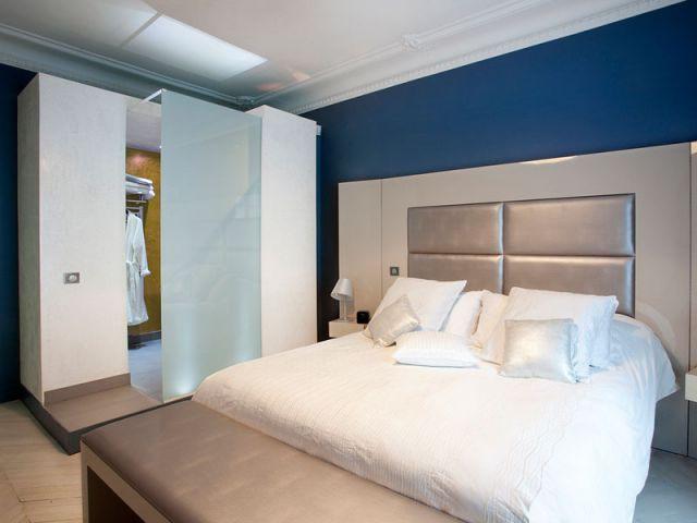 """La chambre parentale, plus """"traditionnelle"""" - Denise Omer - 16ème arrondissement rénovation"""