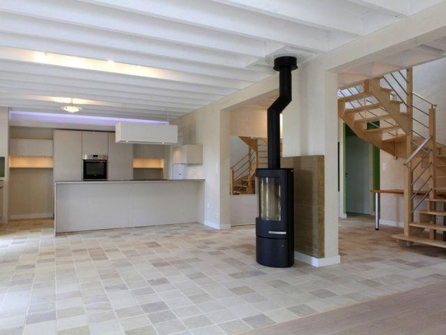 A l'intérieur de la maison organique et bioclimatique - Maison organique bioclimatique