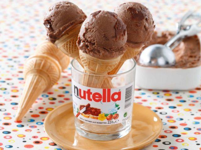 Glaces au Nutella sorbets