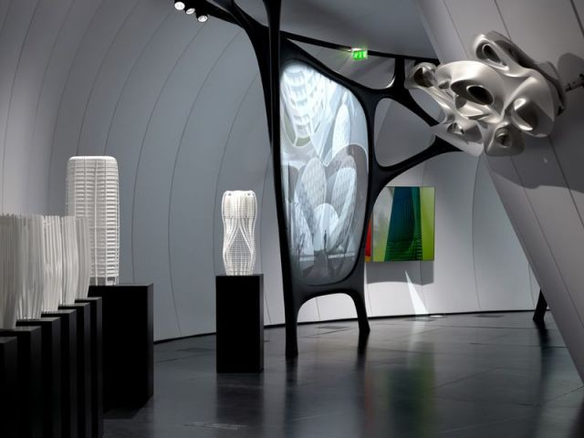 Projection et Silver painting - Zaha Hadid