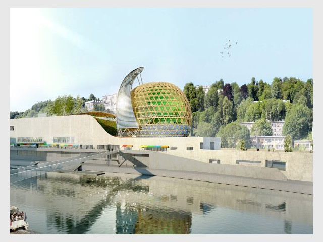 2.660 m² pour les entreprises et de nombreux commerces - la Cité musicale de l'Ile Seguin
