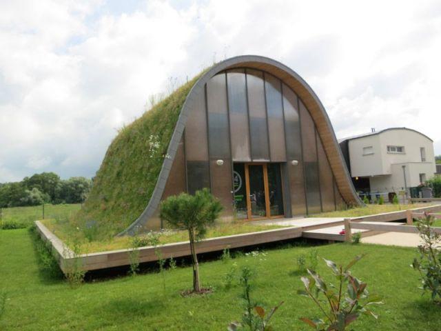 Une toiture végétale - maison vague