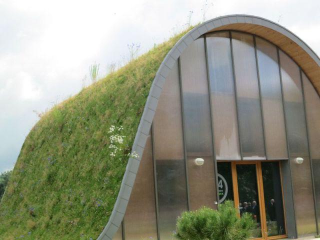 Détail toiture et façade - maison vague