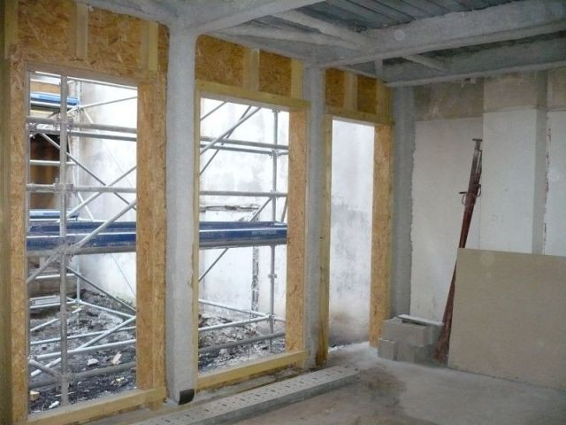 Vue de l'intérieur du bâtiment  - Réhabilitation de 18 logements dans le 12ème à paris