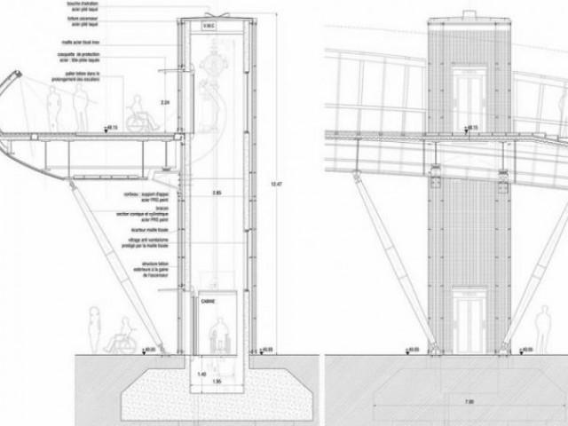 Détails structurels - Passerelle Villetaneuse