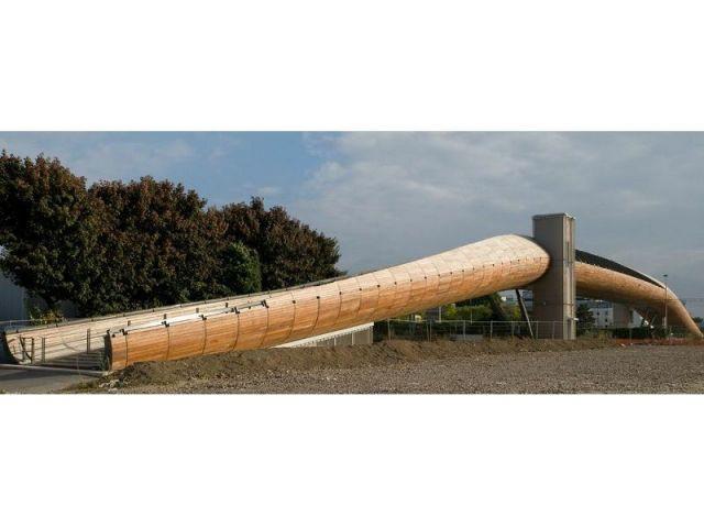 Revêtement de bois - Passerelle Villetaneuse