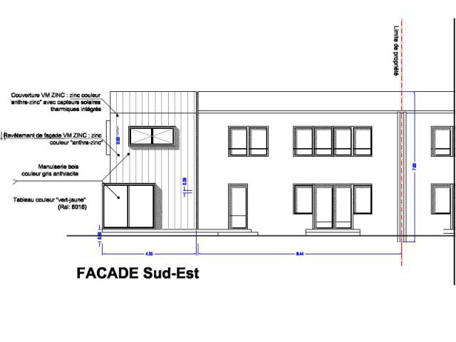 Plan façade Sud-Est - Alternatives Architecture
